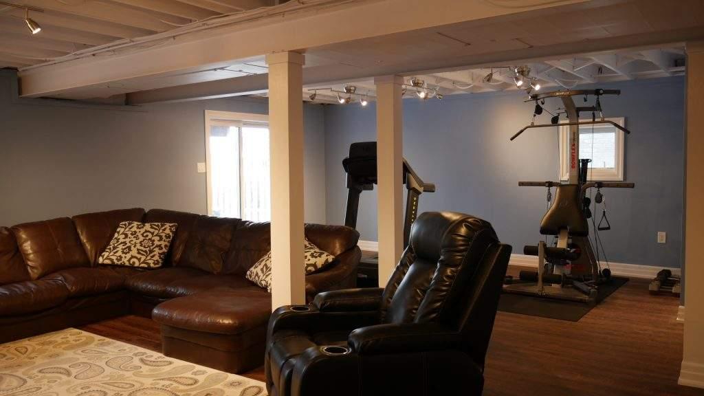 Excersise room in basement in Bradford