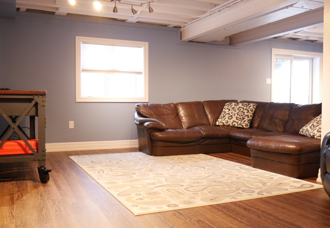 living space in basement