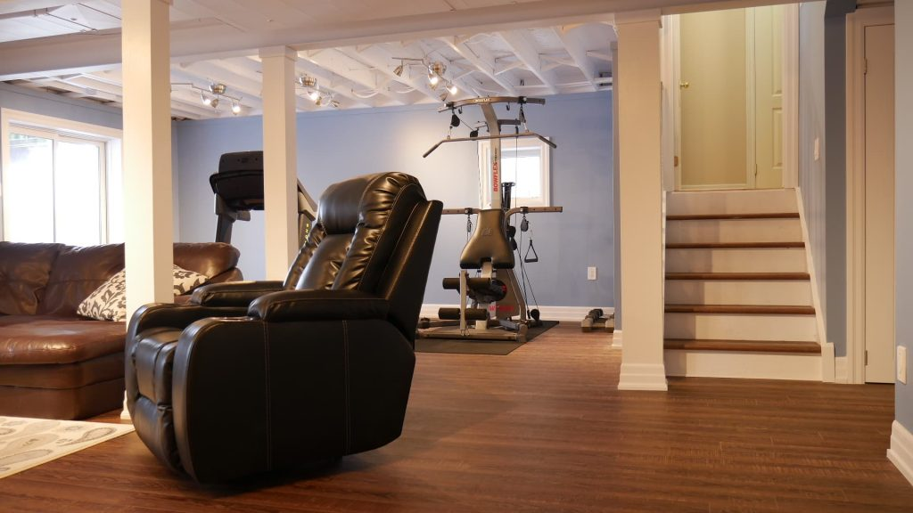 custom gym in the basement