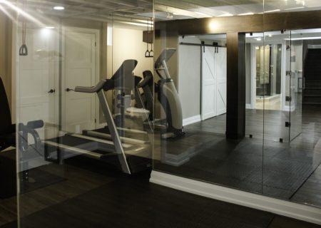 Basement custom gym