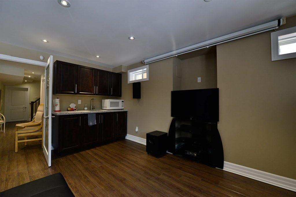 basement renovation kitchen reno image
