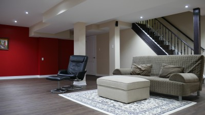 modern basement in bradford