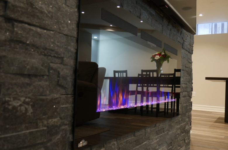 basement fireplace in vaughan