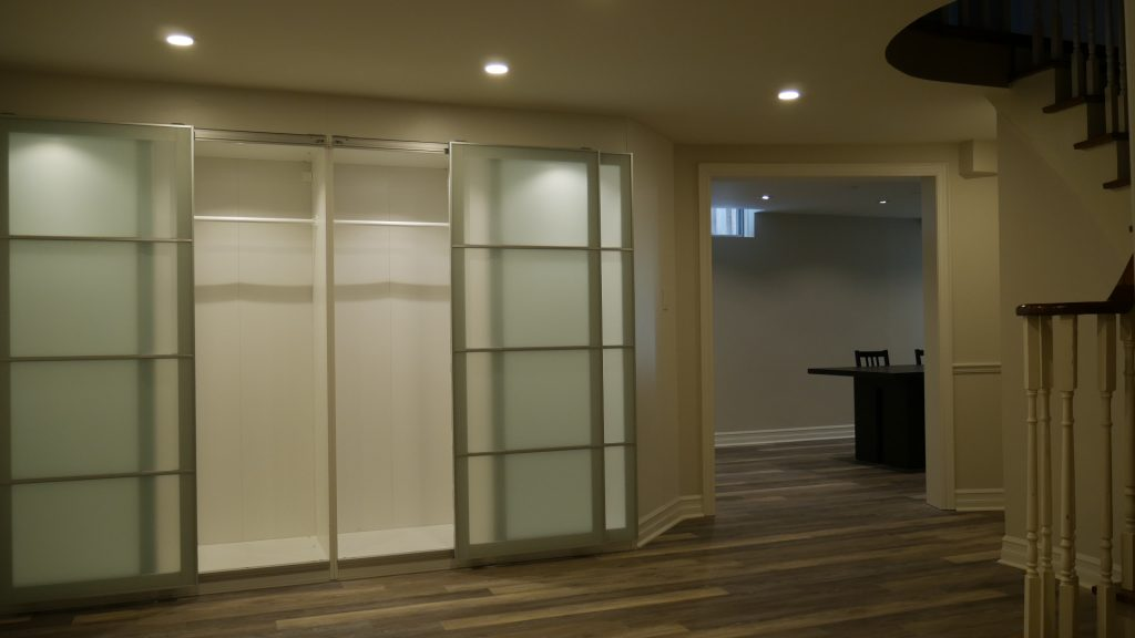 Custom Closet, basement ideas