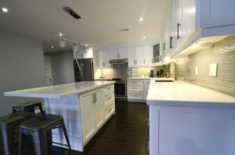 Kitchen renovation in a new basement