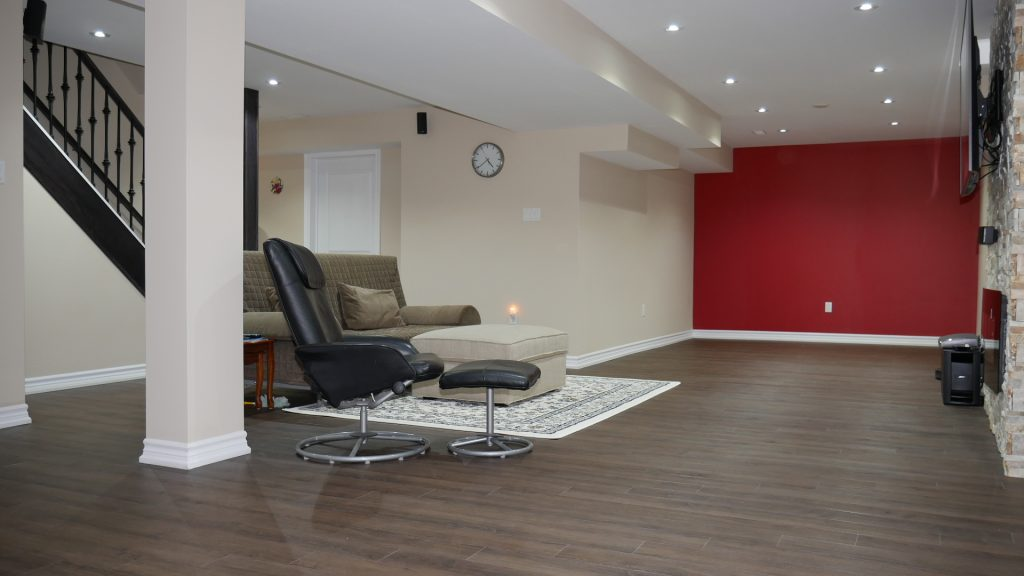 Finished basement in Milton Ontario