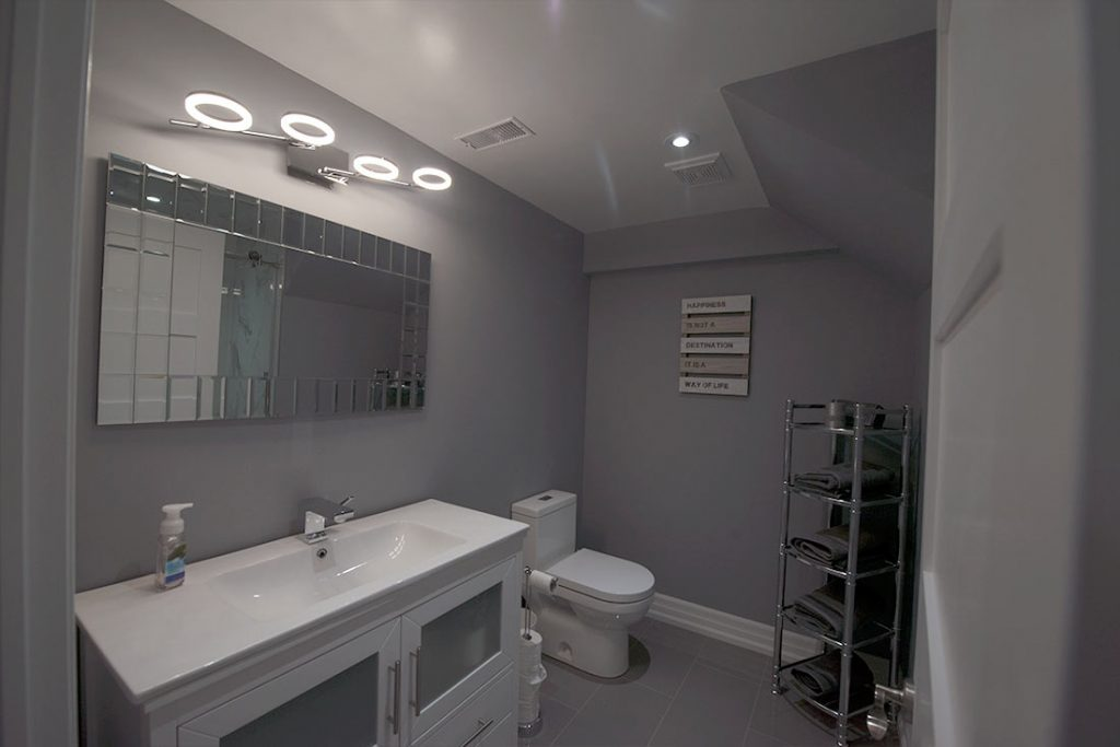 basement renovation bathroom image