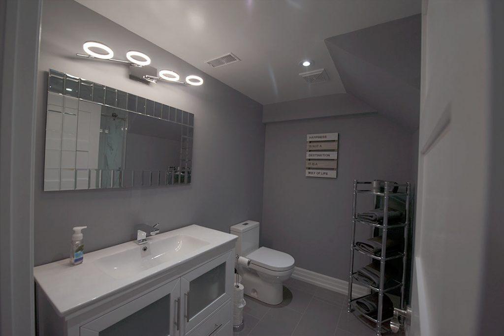 basement renovation bathroom image