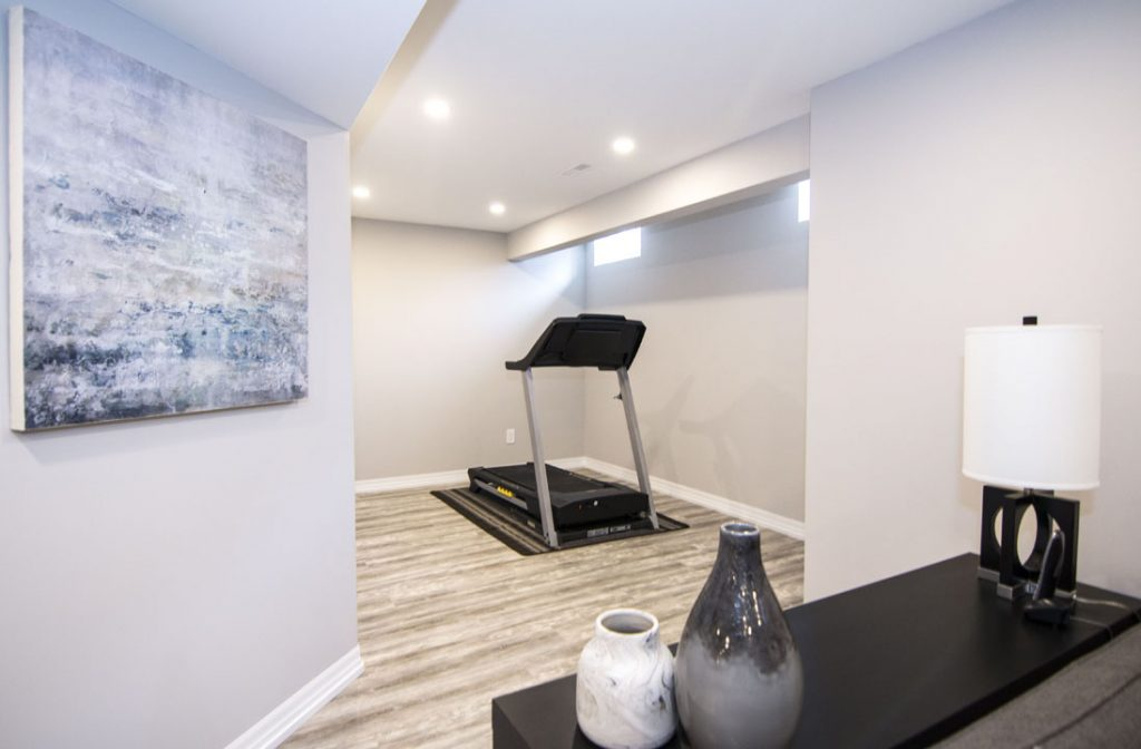 Gym-Treadmill-Basement-Renovation-Mississauga-On