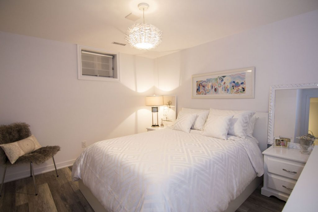 King-size-bed-Basement-Renovation image