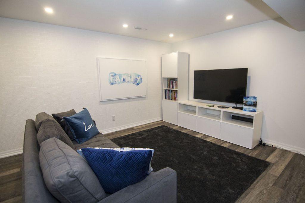 Lounge area finished basement King City