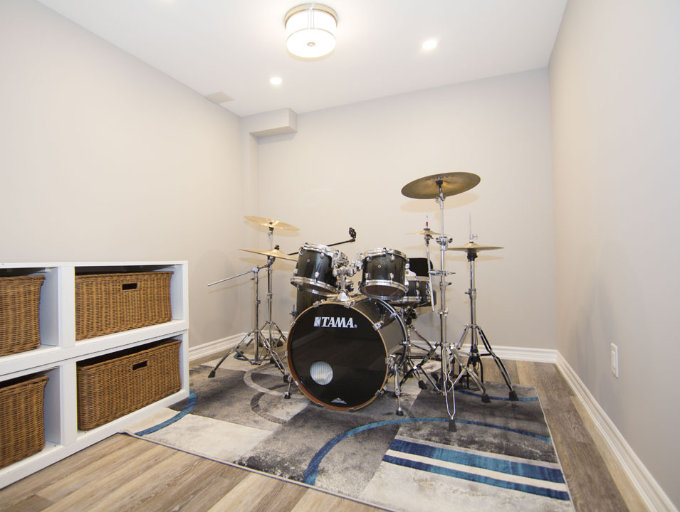 Music room basement renovation Newmarket