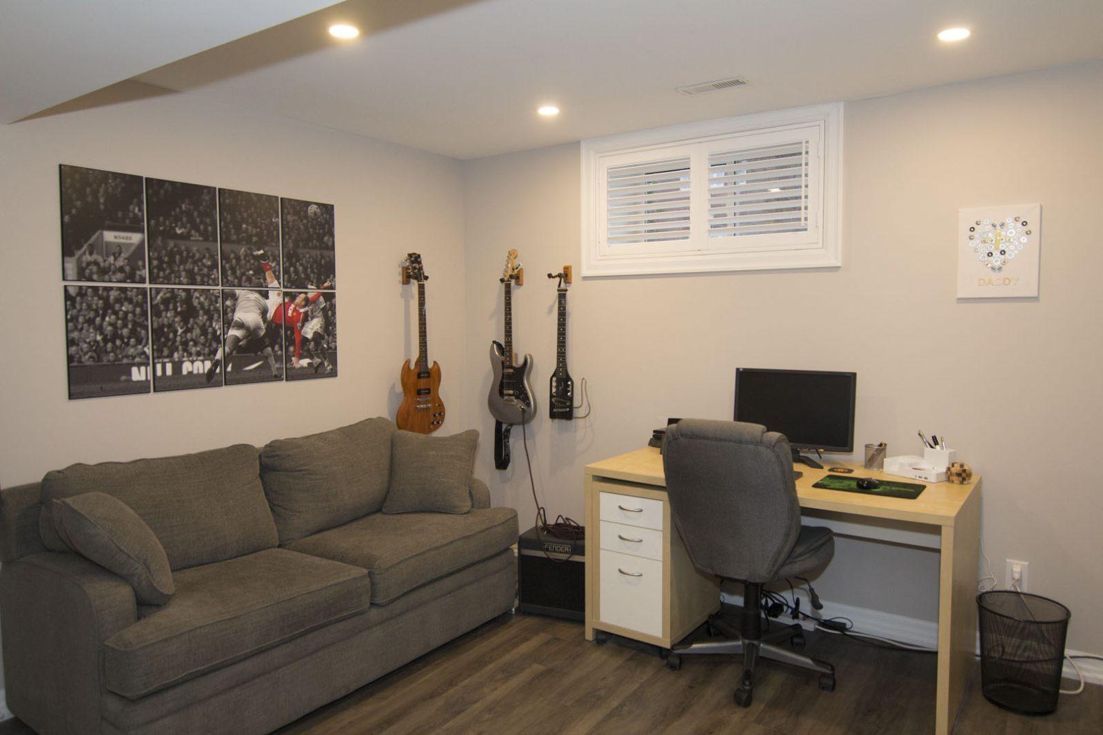 Music-room-in-finished-basement-oakville