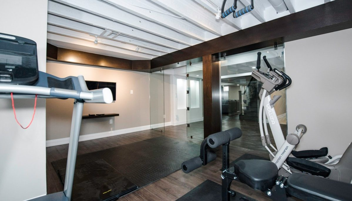 Basement Renovation with a Gym