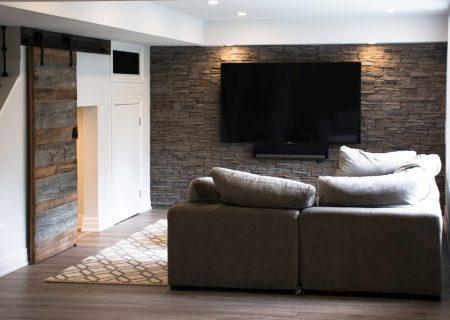 Finished Basement & Living Room
