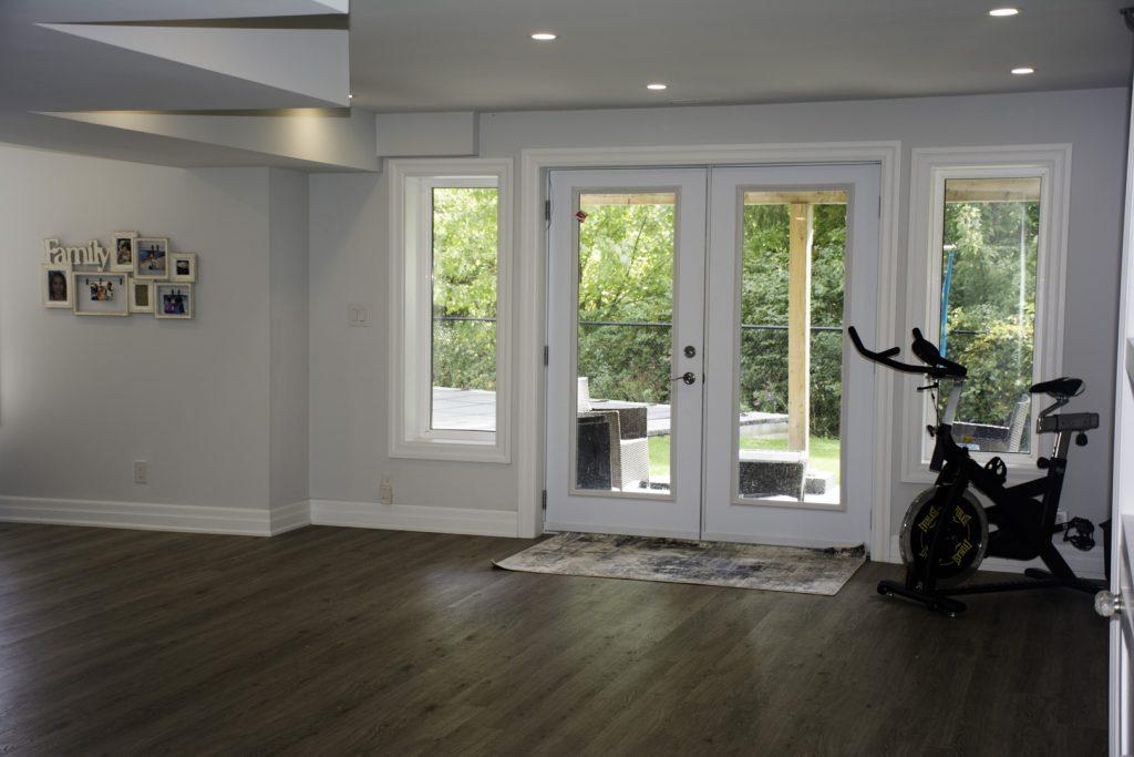 Basement-open-space-back-door image