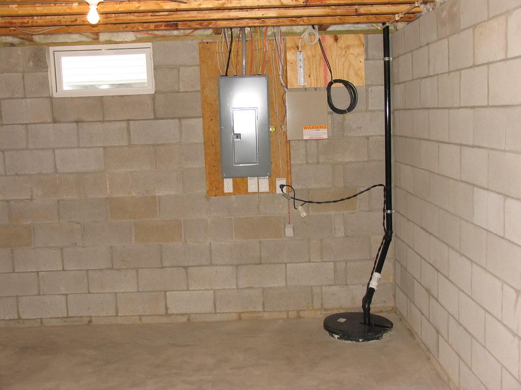 photo of basement Drainage System