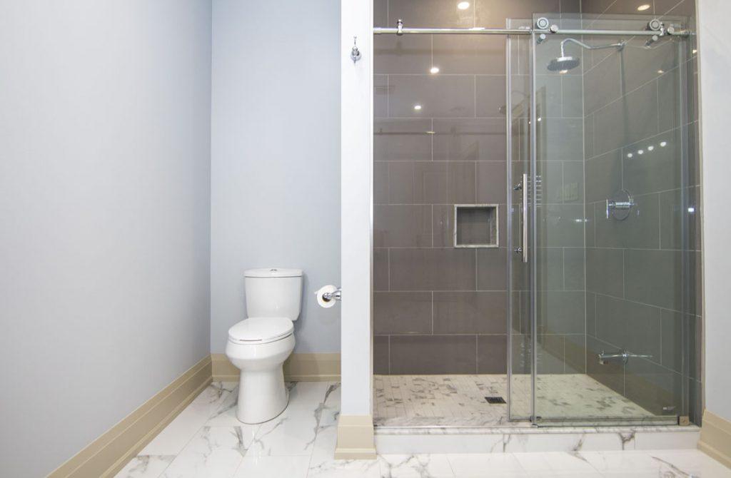 Walk in Shower in Basement Bathroom - Bathroom Renovation Mississauga