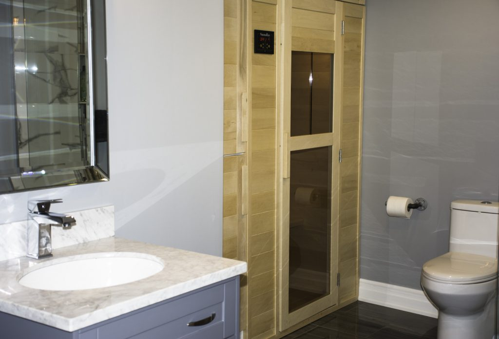 Custom Basement Bathroom with Sauna - Basement Renovation Thornhill