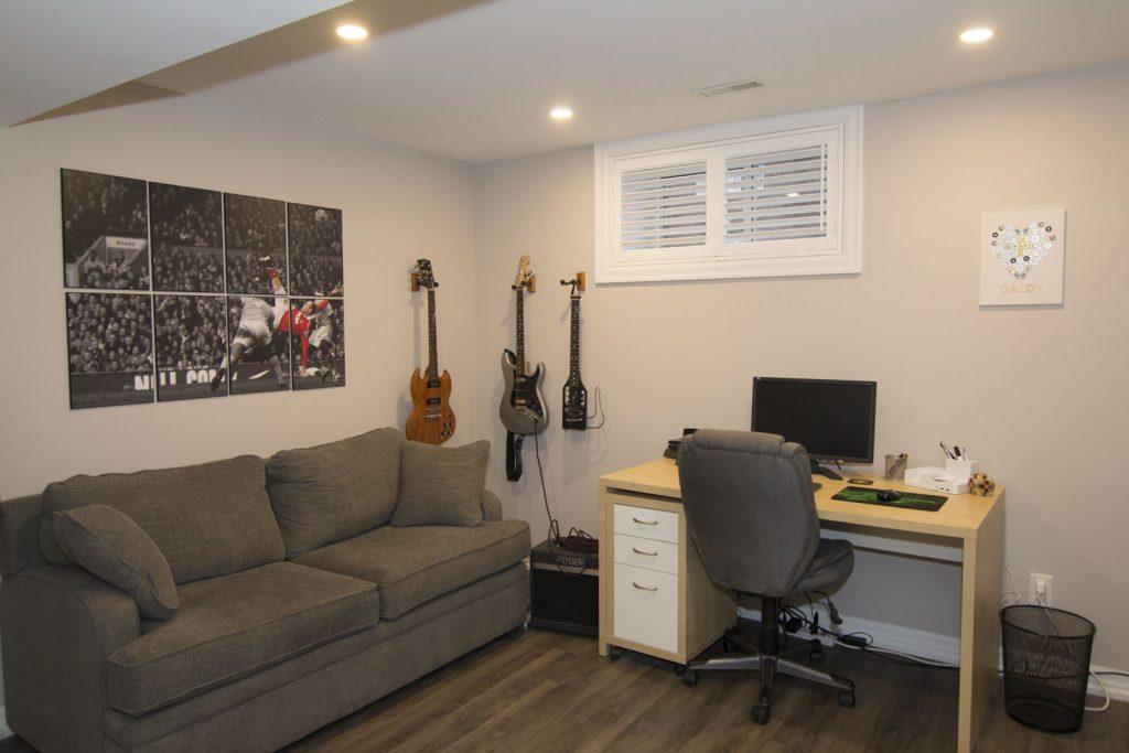 Small Basement Music Room Design - Basement Renovation Oakville