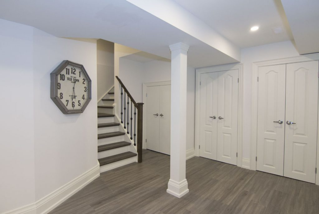 Custom Staircase in Basement Renovation Project Markham