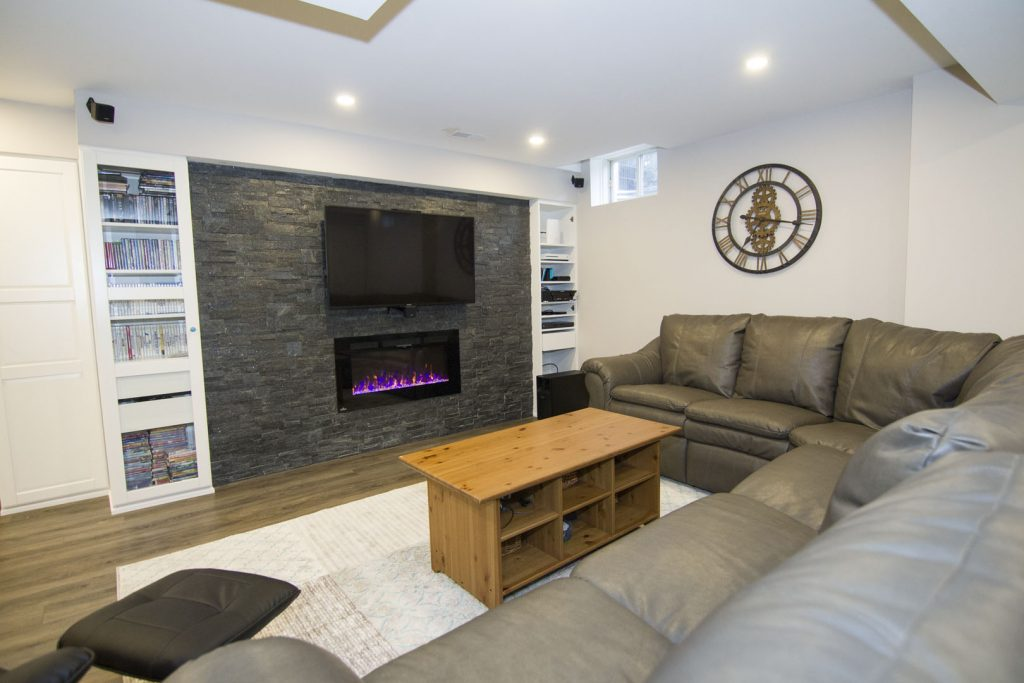 Finished Basement Project in Hamilton