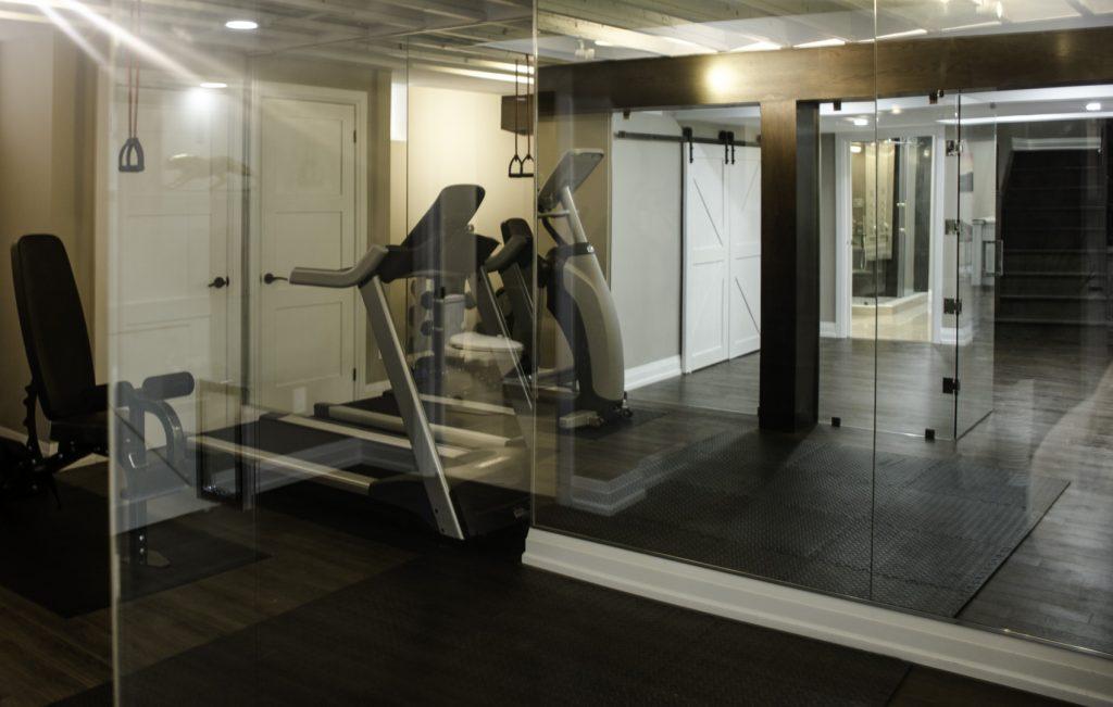 Basement Privet Gym Project by Harmony Basement Pickering