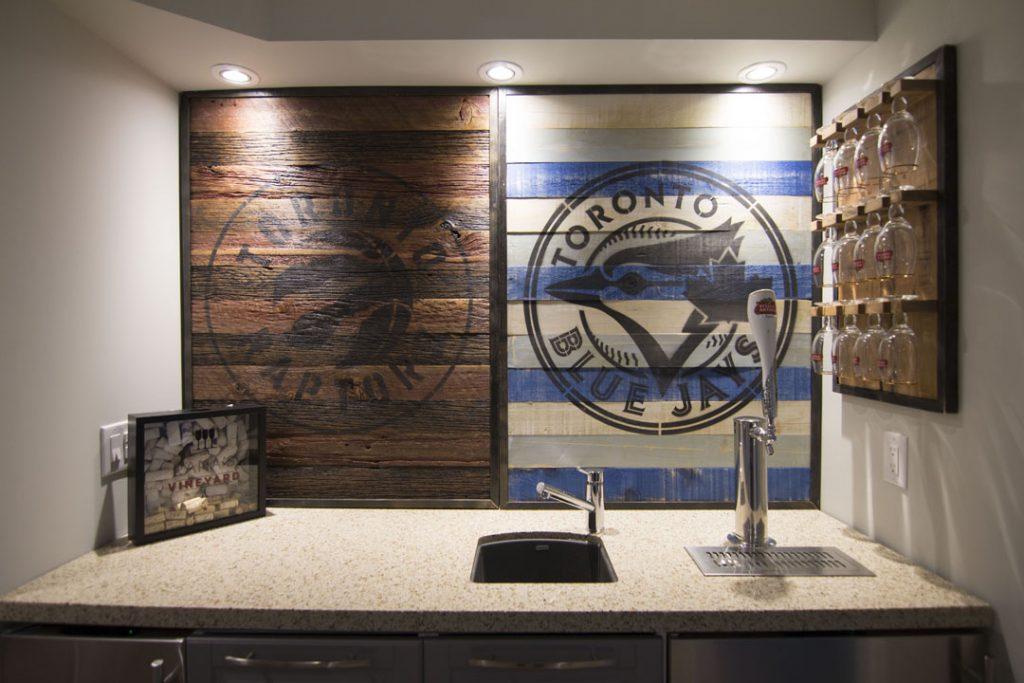 Custom Basement Kitchen Bar