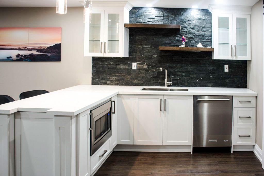 Small Basement Kitchen Design by Harmony Basements Vaughan