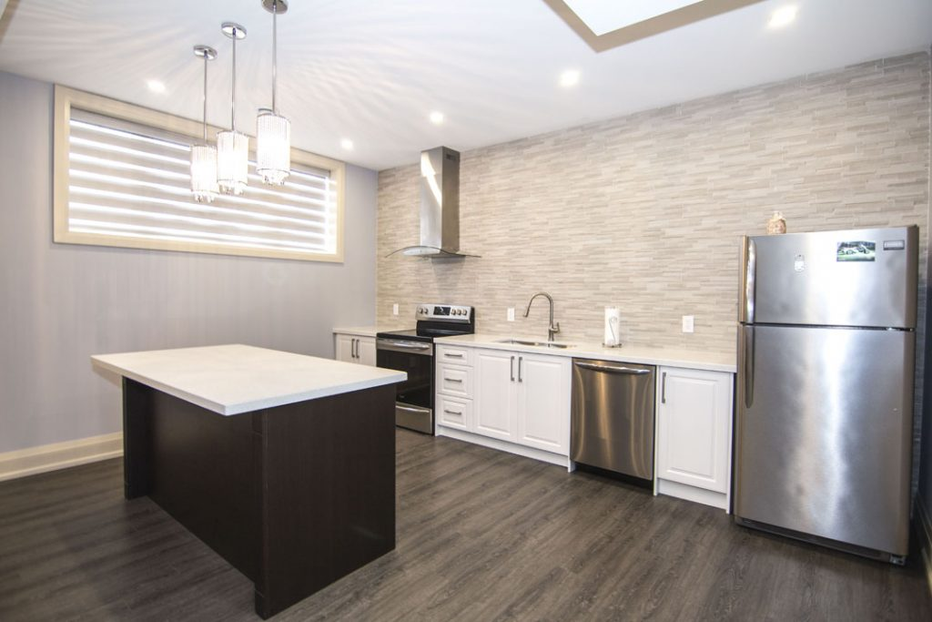 Modern Basement Kitchen Design by Harmony Basements Vaughan