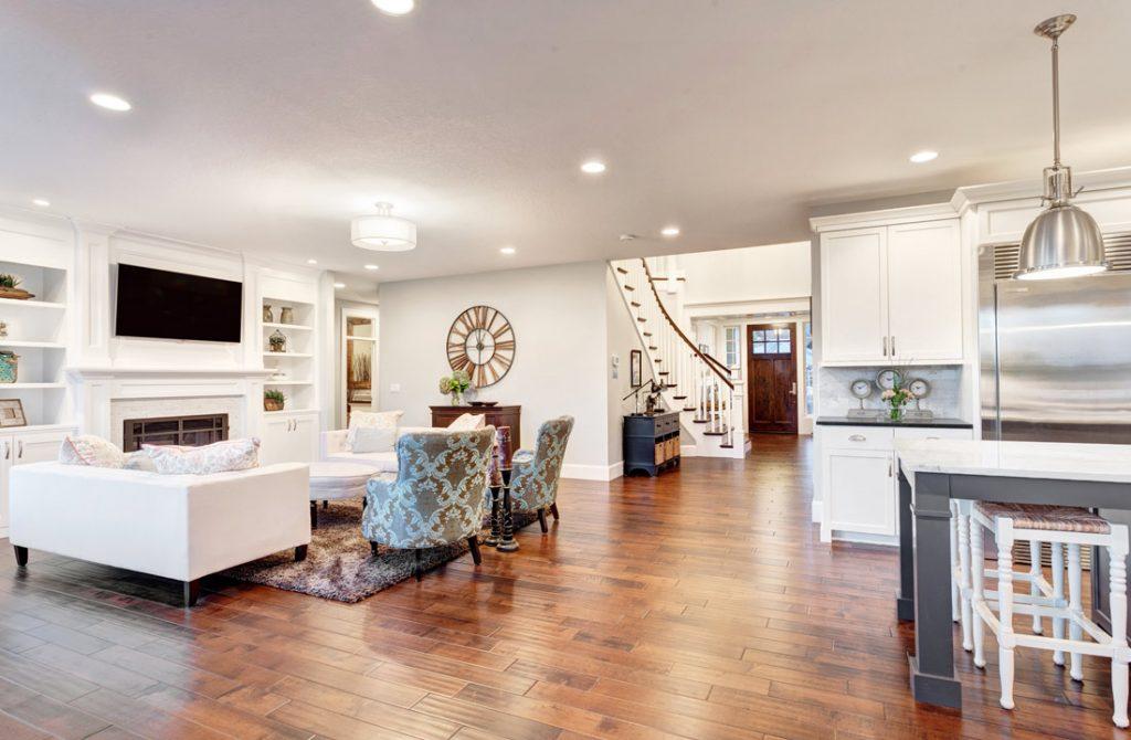 Basement Living Room Modern Design - Basement Remodeling Brampton