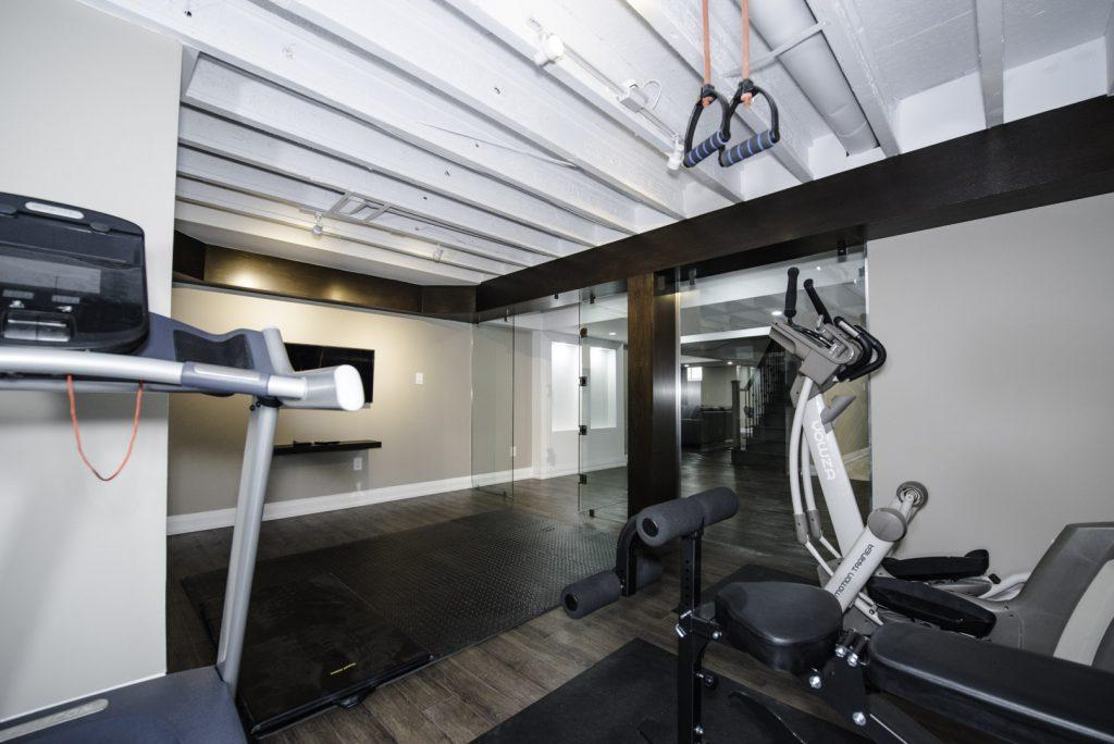 Custom Gym in Amazing Finishing Basement Project King City
