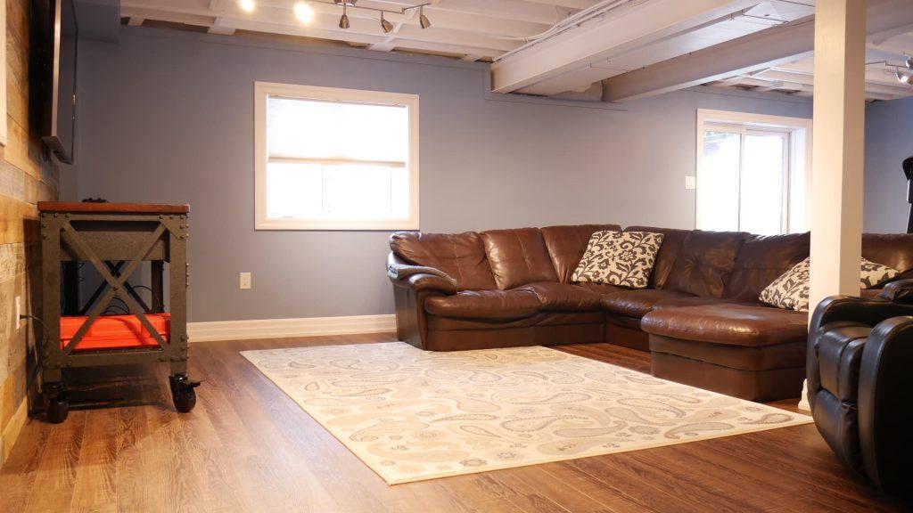 Luxury Living Room in Basement Finishing Project Aurora