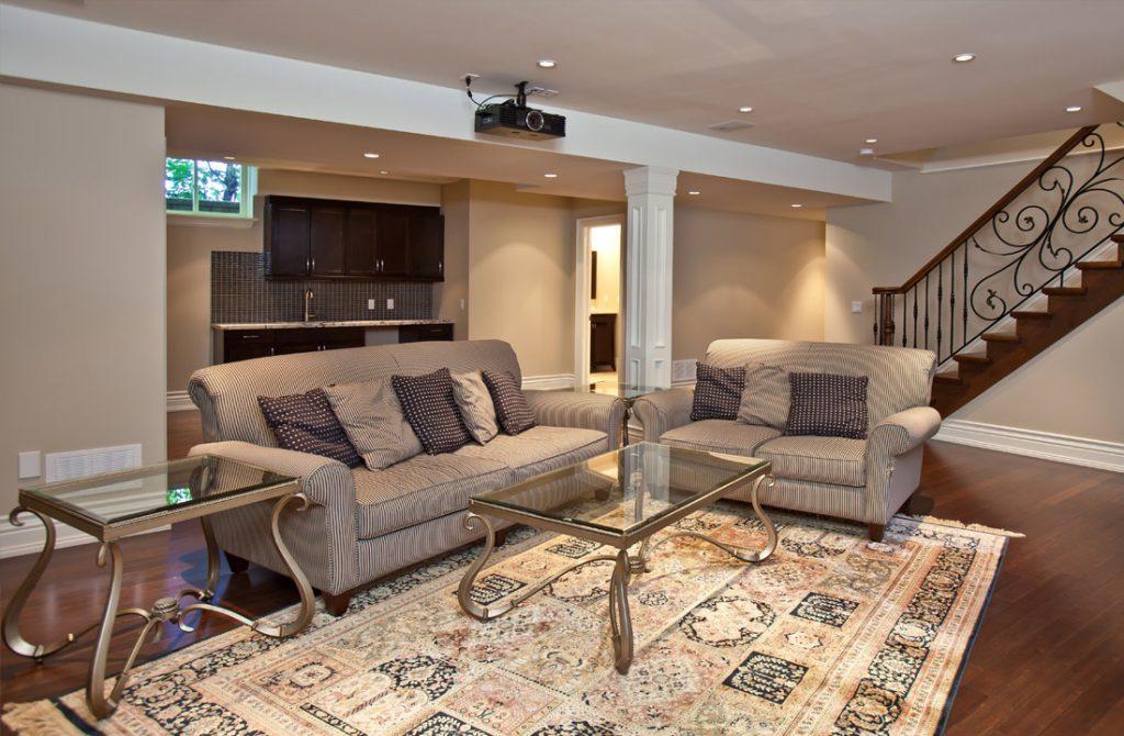 Custom Family Room Design by Harmony Basements Brampton