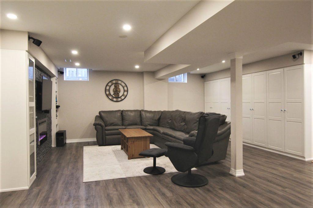 Basement Living Room Remodeling Project Hamilton