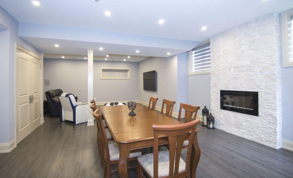 Custom Dining Room in Basement Renovation Project Richmond Hill