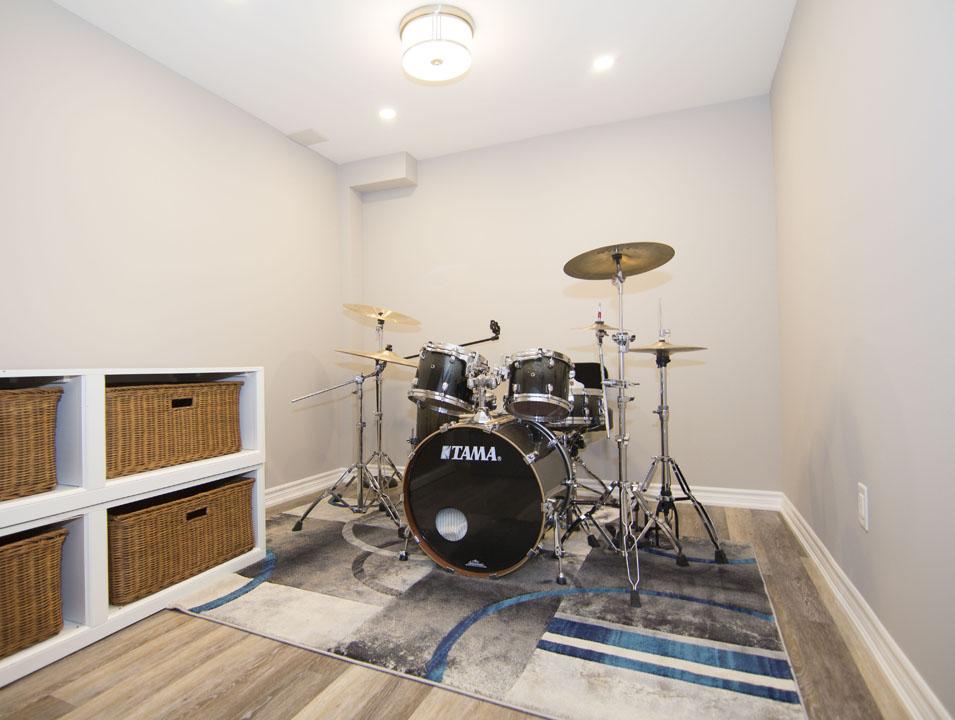 Small Basement Music Room - Basement Remodeling Newmarket