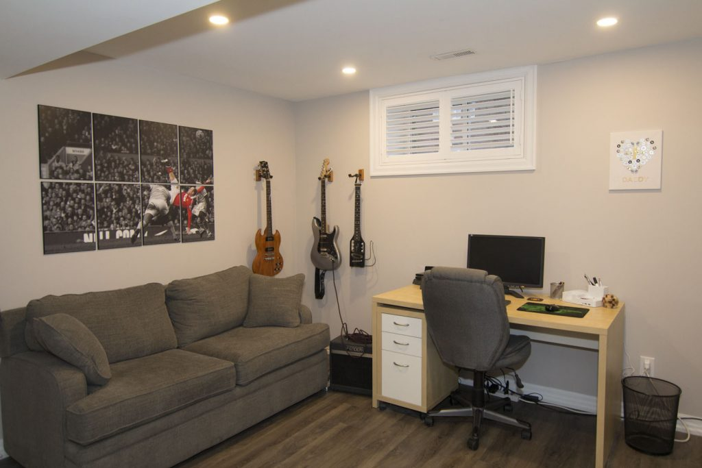 Small Office in Finished Basement by Harmony Basement Brampton