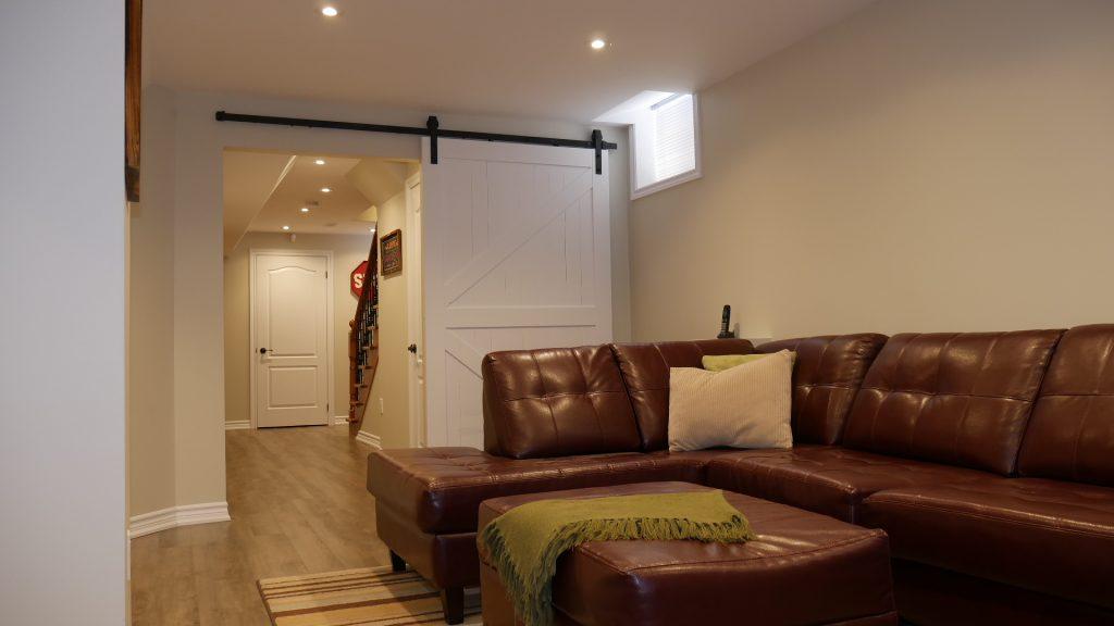 Amazing Living Room in Custom Basement - Basement Remodeling Aurora