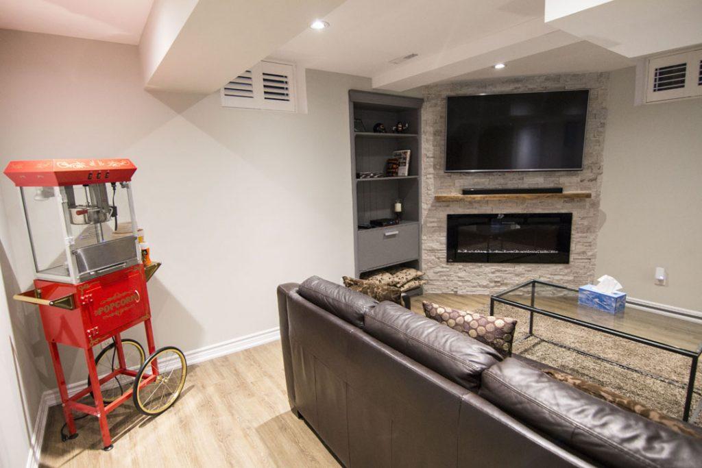 Amazing Basement Design by Harmony Basements Toronto