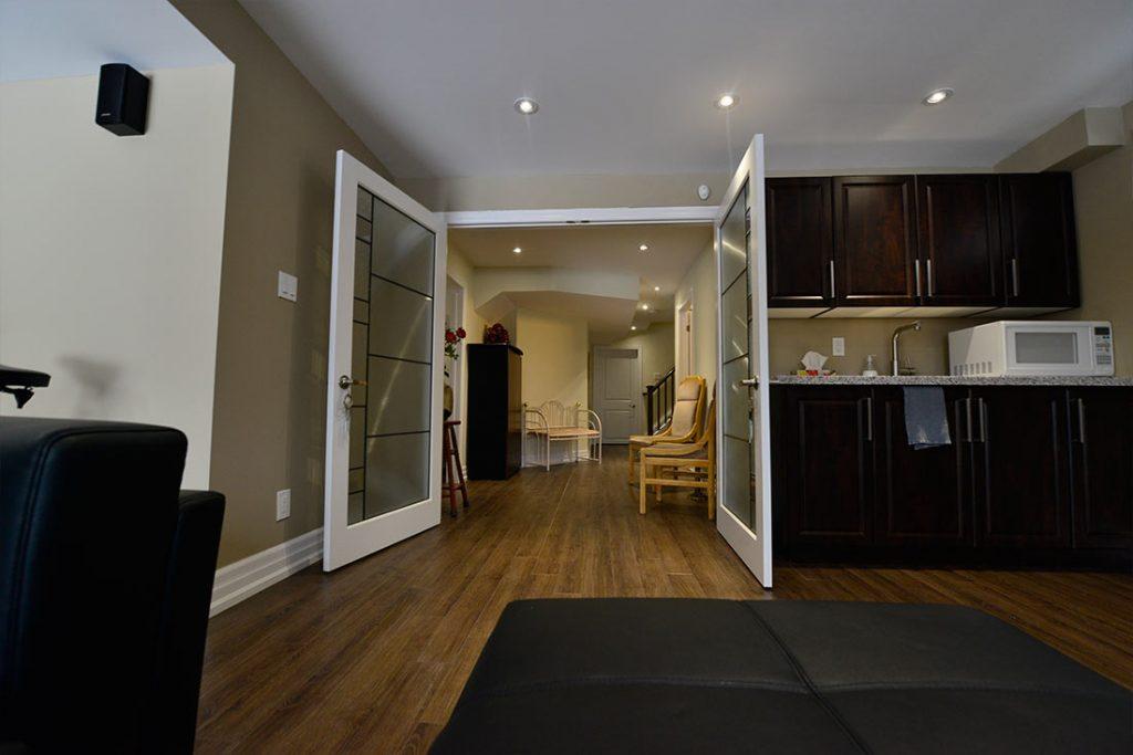 Small Kitchen in Amazing Basement - Basement Renovation Bradford