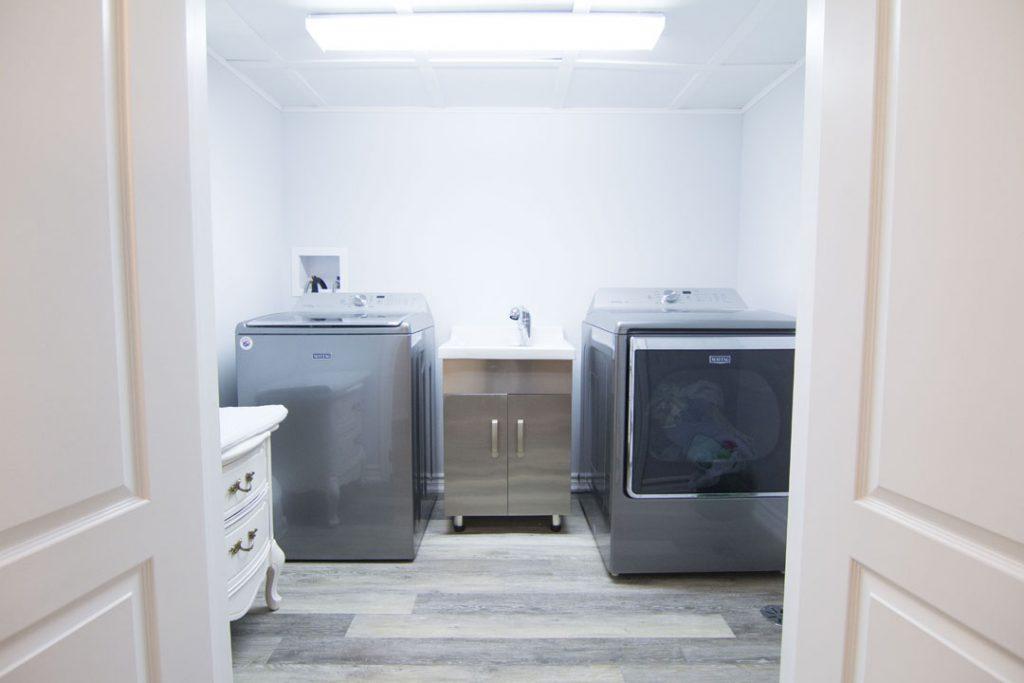Amazing Laundry Room in Custom Basement - Basement Renovation Etobicoke