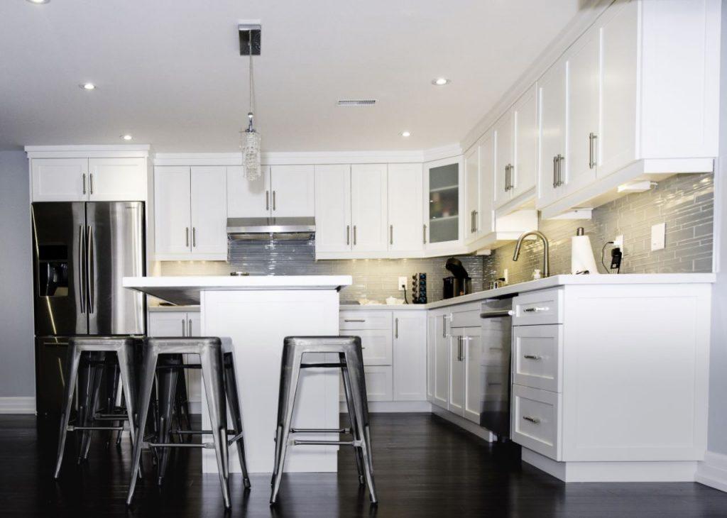 Custom Kitchen Design in Basement Finishing Project Richmond Hill