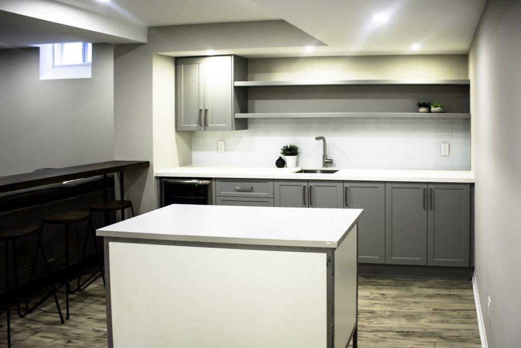 Amazing Kitchen Design in The Basement - Basement Finishing Stouffville