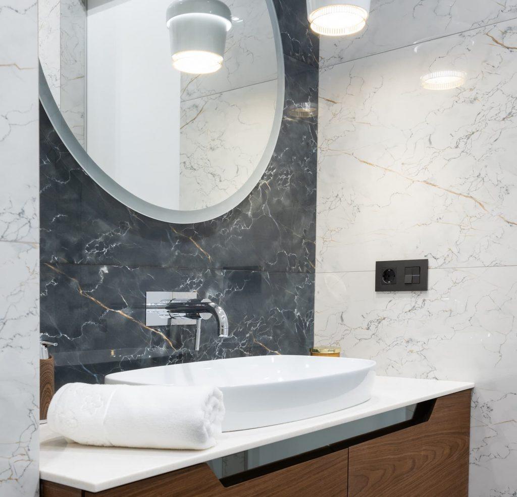 Basement Renovation Including Modern Bathroom
